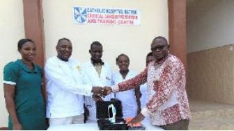 Expanding access to cervical cancer prevention in Ghana: PRCGA donates to Battor Catholic Hospital