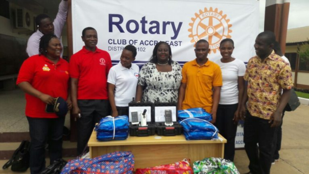 New deployment of EVA system in Ghana with Rotary Club of Accra East